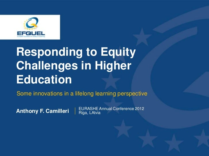 Responding to Equity Challenges in Higher Education  Some innovations in a lifelong learning perspective                  ...