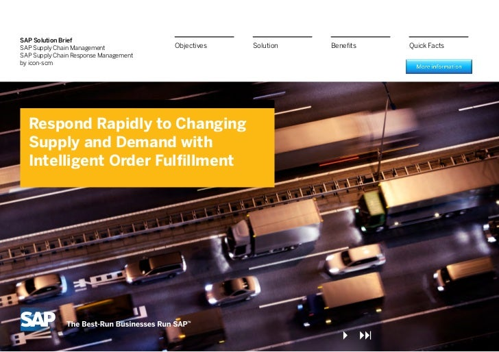 Respond Rapidly to Changing Supply and Demand with Intelligent Order Fulfillment