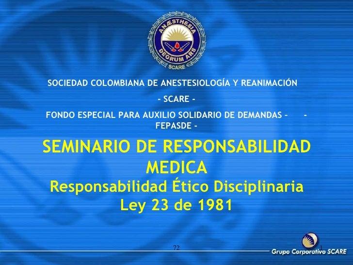 Responsabilidad de Ética Medica
