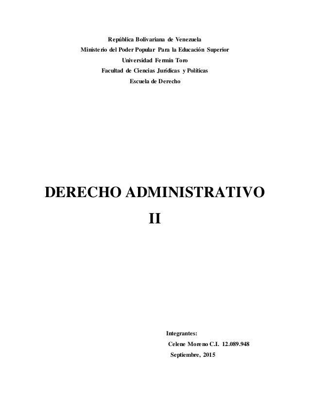República Bolivariana de Venezuela Ministerio del Poder Popular Para la Educación Superior Universidad Fermín Toro Faculta...