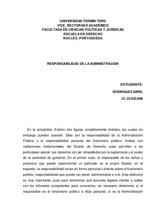 UNIVERSIDAD FERMIN TORO VICE_RECTORADO ACADÉMICO FACULTADA EN CIENCIAS POLÍTICAS Y JURÍDICAS ESCUELA DE DERECHO NUCLEO_POR...