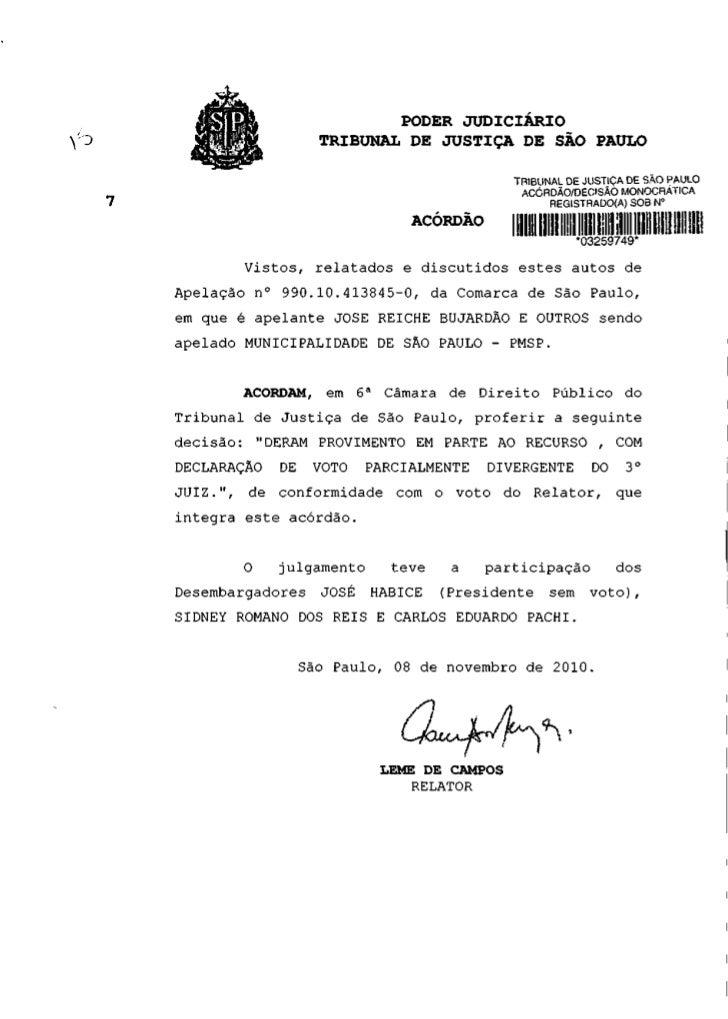 PODER JUDICIÁRIO                    TRIBUNAL DE JUSTIÇA DE SÃO PAULO                                             TRIBUNAL ...