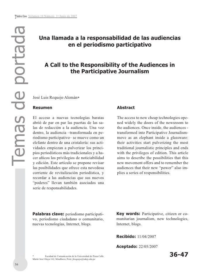 Volumen 10 Número 1• Junio de 2007  Temas de portada                          Una llamada a la responsabilidad de las audi...