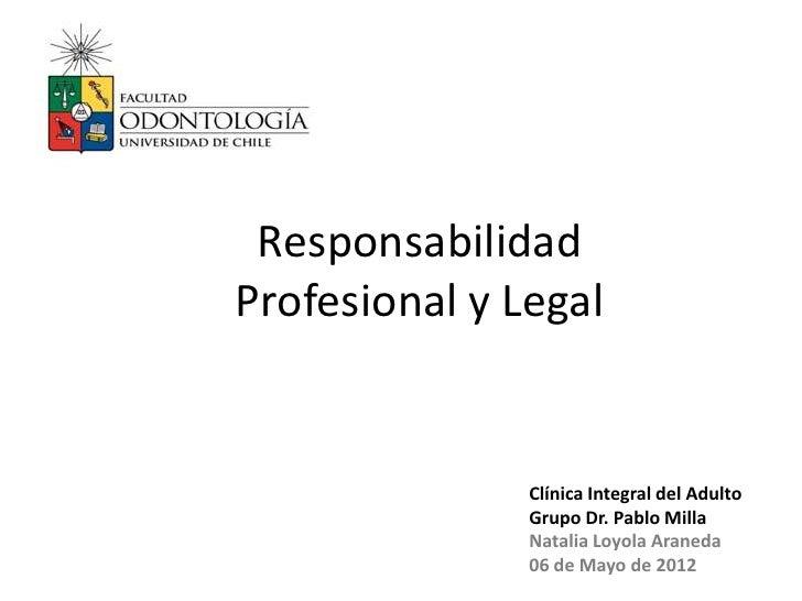 Responsabilidad profesional y legal for Responsabilidad legal