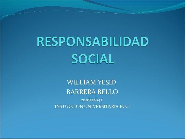 WILLIAM YESID BARRERA BELLO 2010221045 INSTUCCION UNIVERSITARIA ECCI