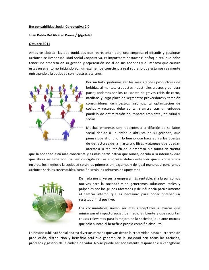 Responsabilidad Social Corporativa 2.0.