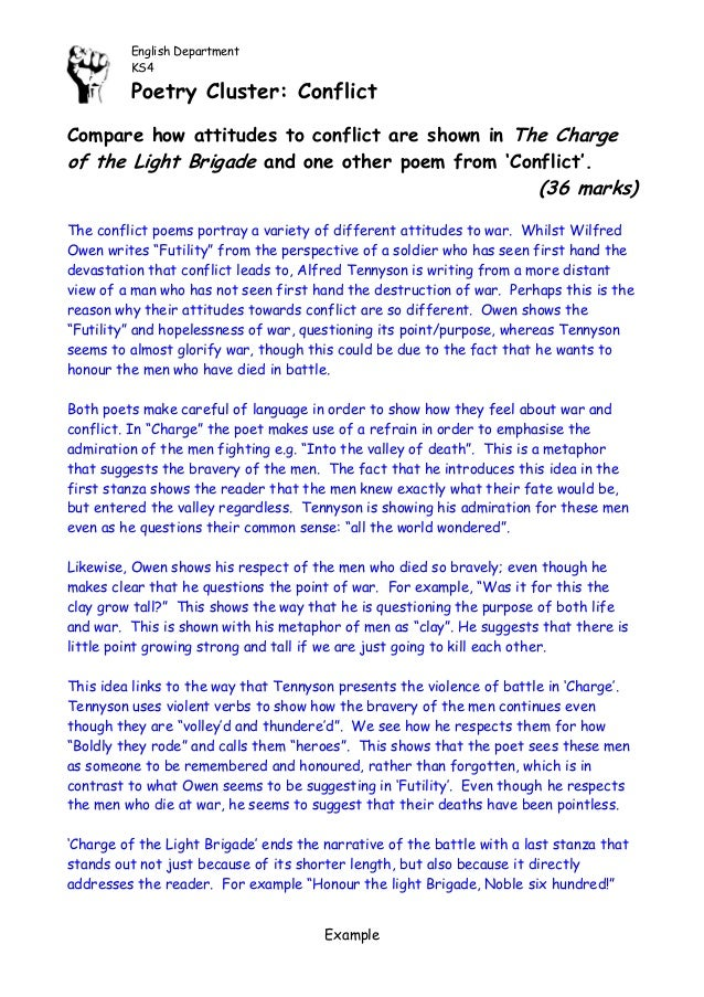 charge of the light brigade critical essay Charge of the light brigade essay compare the experience of the soldiers in charge of the light brigade and bayonet charge critical thinking and.