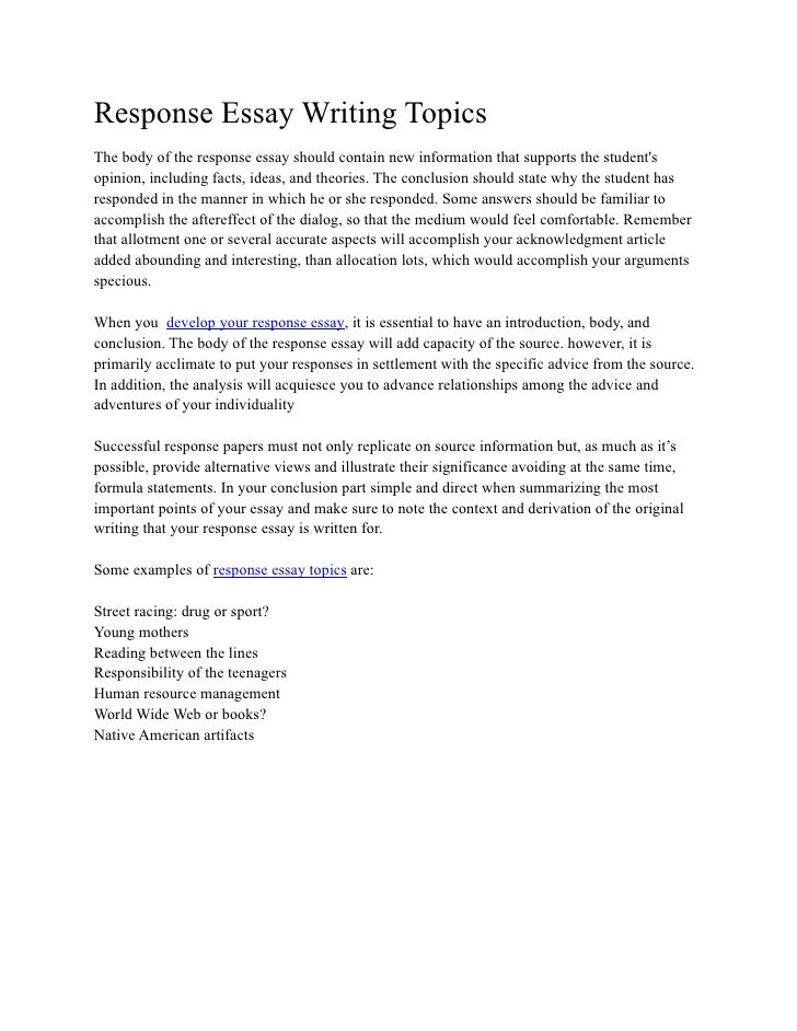 "book response essay Literary response essay the purpose of a literary response is to demonstrate an understanding of the elements in a literary work this understanding is conveyed through accurate  when the book is set nick, attending one of gatsby's elaborate parties, notices that ""most of the remaining."