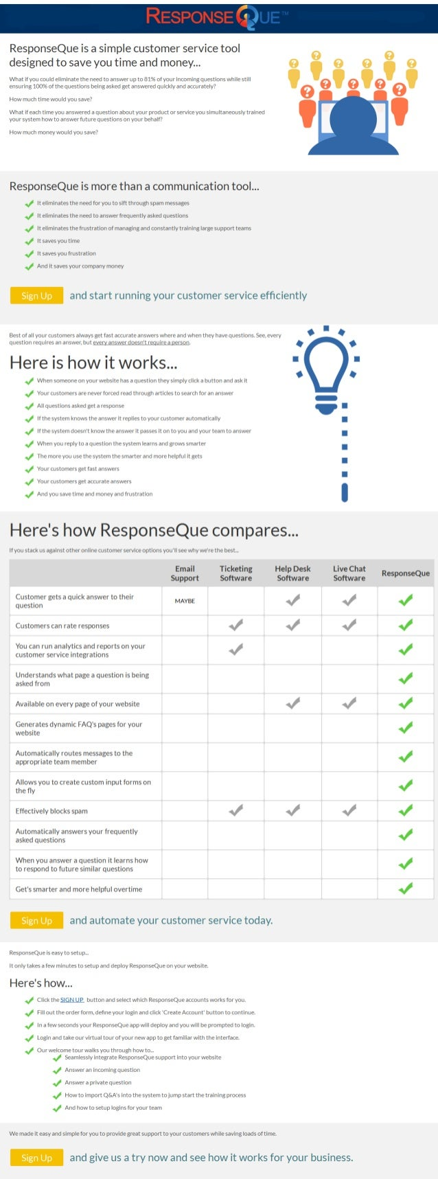 How to automate your online customer service with ResponseQue.com
