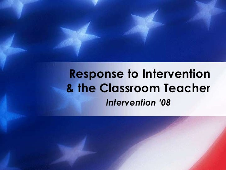 Response To Intervention Overview Nov 3