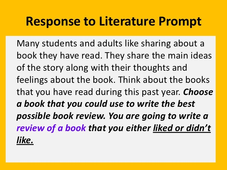 responses to literature essays