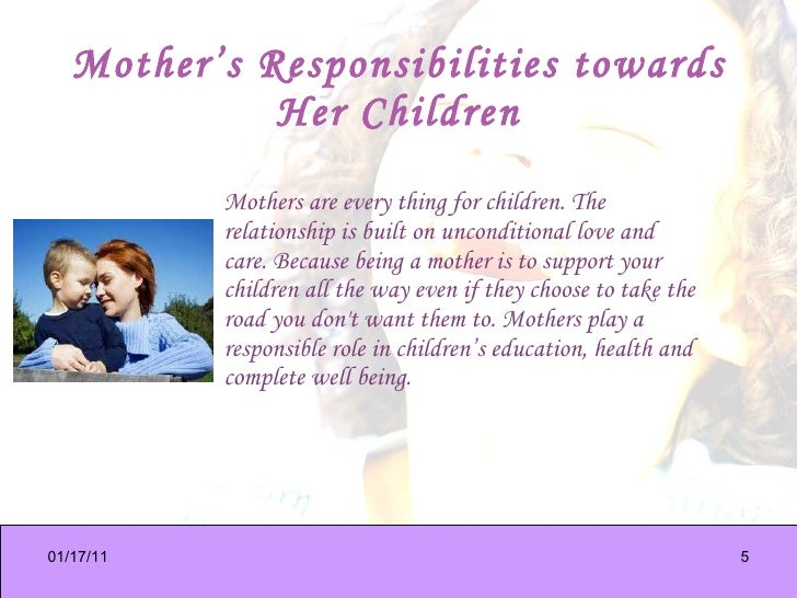 the role of mothers and the profession of motherhood Motherhood just decades ago, the majority of moms did stay home with the kids, stuck in deeply ingrained gender roles that were never really questioned and then there was the women's right movements, which catapulted women into the role of breadwinner and prestiged professional now some 30 years later, women.