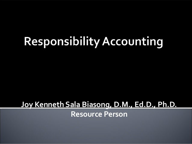 Responsibility Accounting (Management Advisory Services)