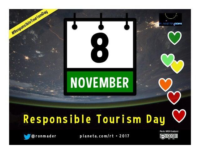 November 4 is Responsible Tourism Day @WTM_WRTD @unwto #rtweek16