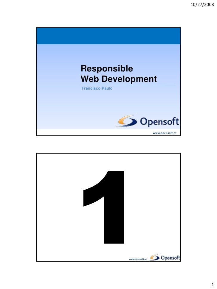 Responsible Web Development (Enei 2008)