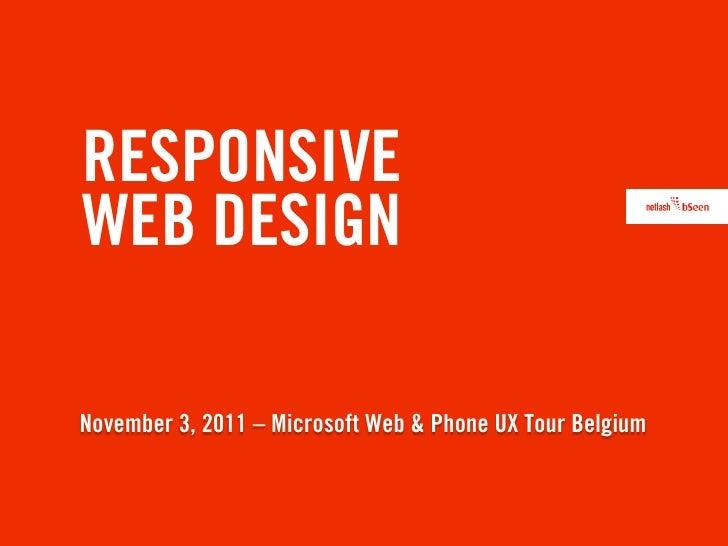 Responsive Webdesign - UXtour Microsoft