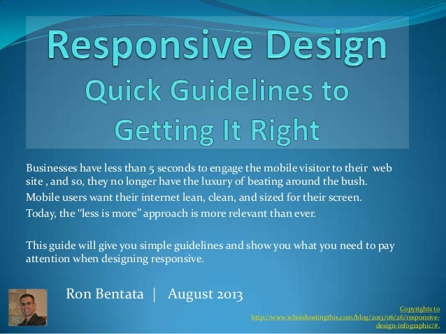 Responsive design | quick guidelines to get it right