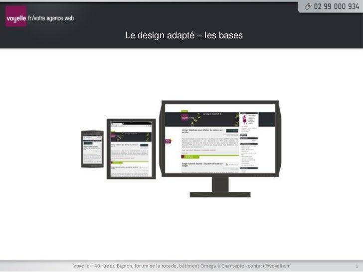 Les bases du responsive design