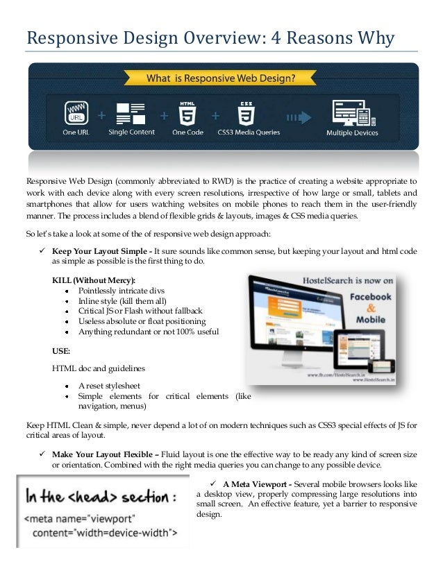 Responsive design overview 4 reasons why