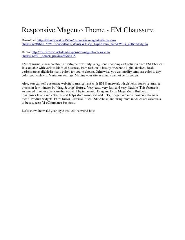 Responsive Magento Theme - EM Chaussure Download: http://themeforest.net/item/responsive-magento-theme-emchaussure/6964115...