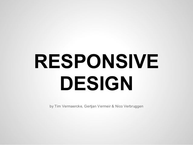 Responsive presentation