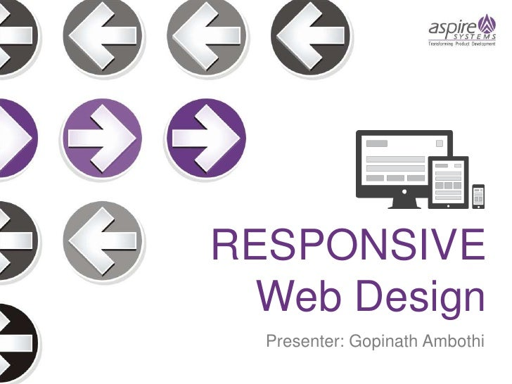 RESPONSIVE  Web Design  Presenter: Gopinath Ambothi