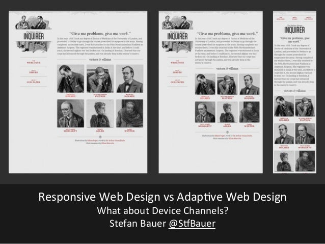 Responsive vs Adaptive Web Design - What about Device Channels?