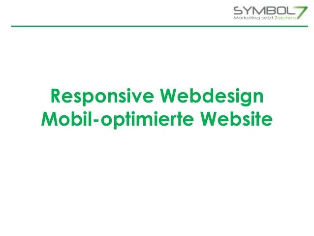 Responsive Webdesign  Mobil-optimierte Website