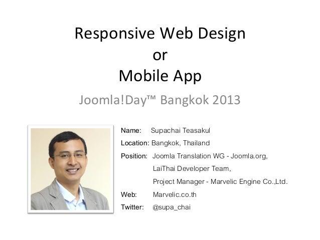 Responsive Web Design or Mobile App
