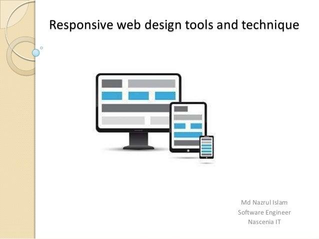 Responsive web design tools and technique