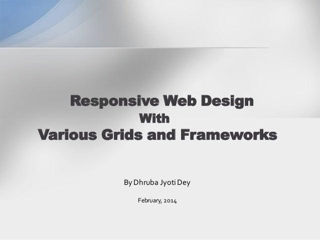 Responsive Web Design Framework Comparison