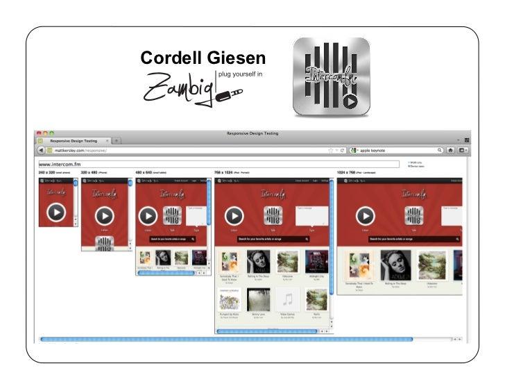 Responsive Web design Zambig