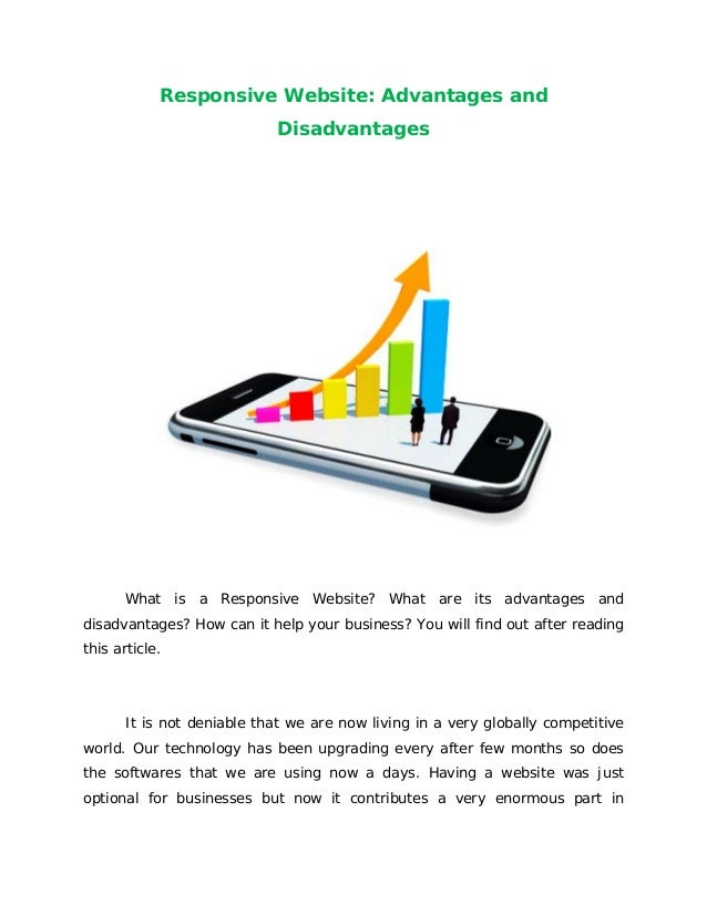 Responsive Website: Advantages andDisadvantagesWhat is a Responsive Website? What are its advantages anddisadvantages? How...