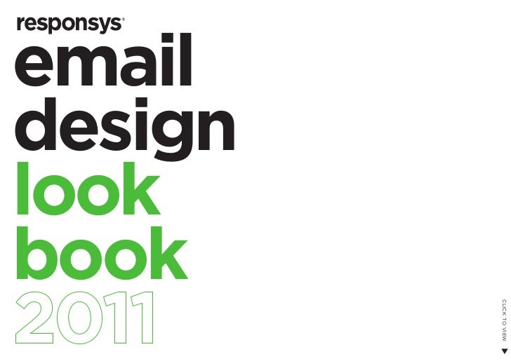 Email design look book 2011 (Responsys)