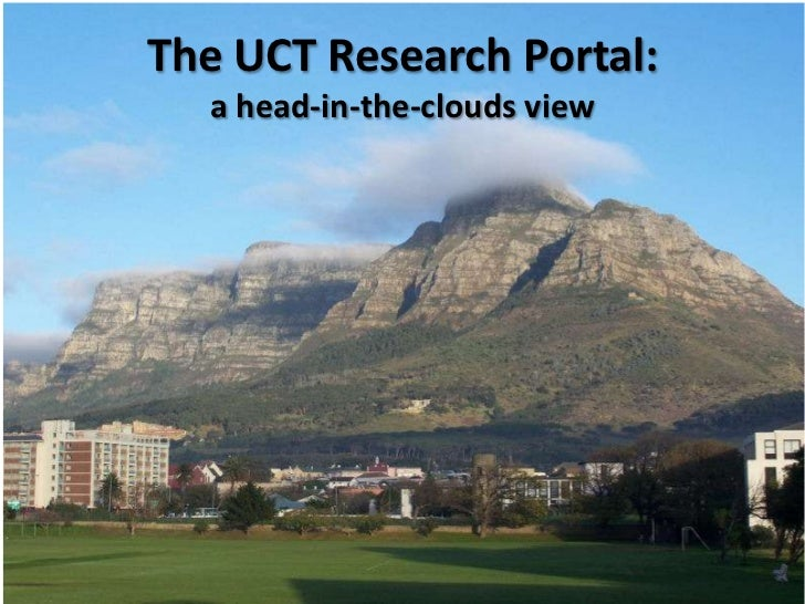 The UCT Research Portal:  a head-in-the-clouds view