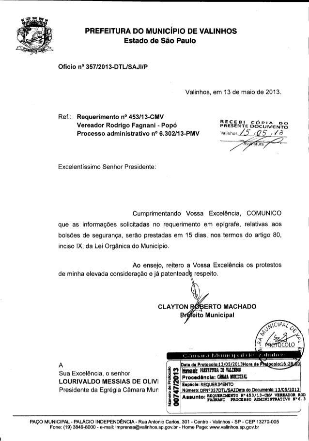 Resposta req. nº 453 2013 (informações sobre a quantidade de bolsões de seguranças)