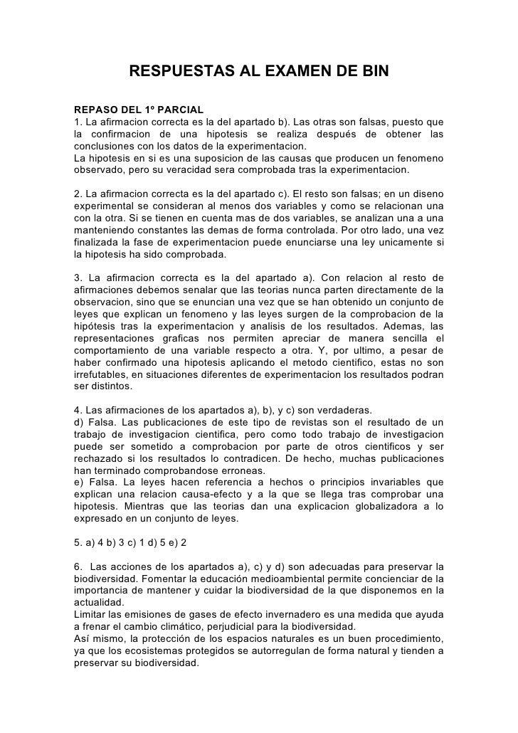 RESPUESTAS AL EXAMEN DE BINREPASO DEL 1º PARCIAL1. La afirmacion correcta es la del apartado b). Las otras son falsas, pue...