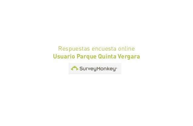 Respuestas encuesta onlineUsuario Parque Quinta Vergara