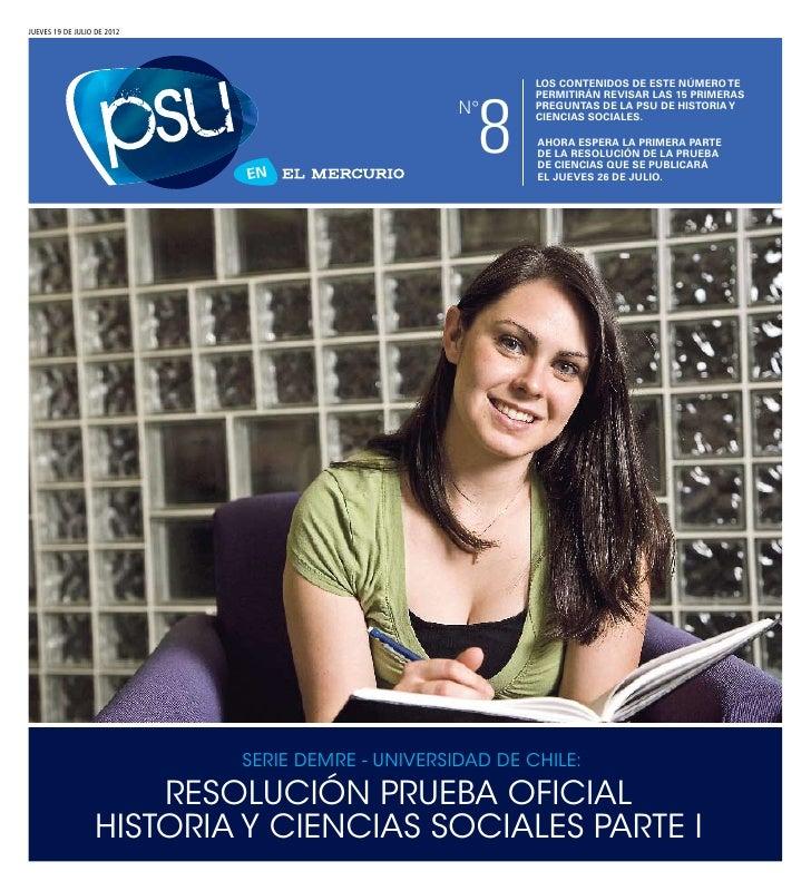 DEMRE: [Respuestas 1] Historia PSU 2011