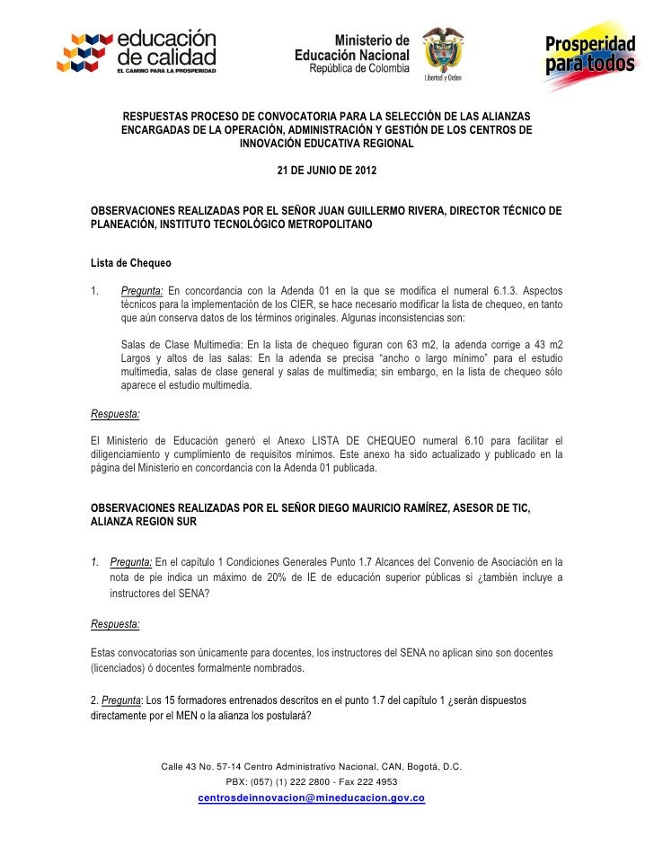 Respuestas inquietudes 2da convocatoria   ii