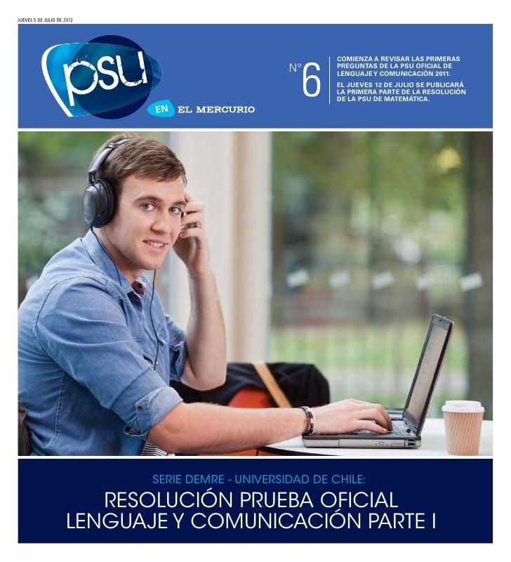 DEMRE: [Respuestas 1] Lenguaje PSU 2011