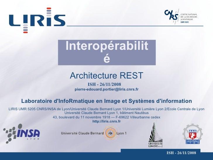 Interopérabilité Architecture REST