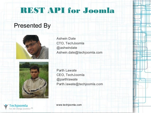 REST API for Joomla