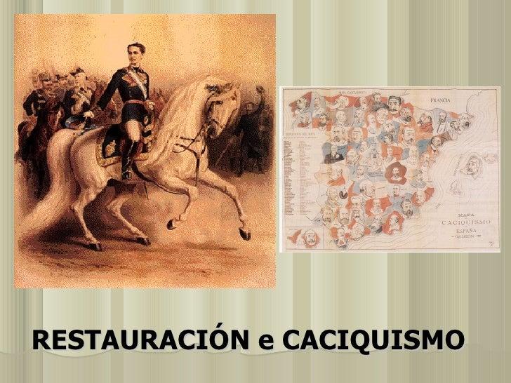 Restauración e Caciquismo