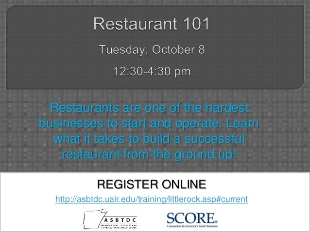 Restaurants are one of the hardest businesses to start and operate. Learn what it takes to build a successful restaurant f...