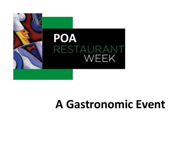 Restaurant Week Porto Alegre