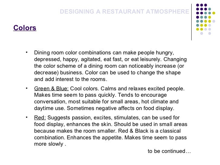 restaurant dining experience essay To celebrate our new fine dining community of food enthusiasts, we asked our friends to answer a simple question: what makes a fine dining experience.