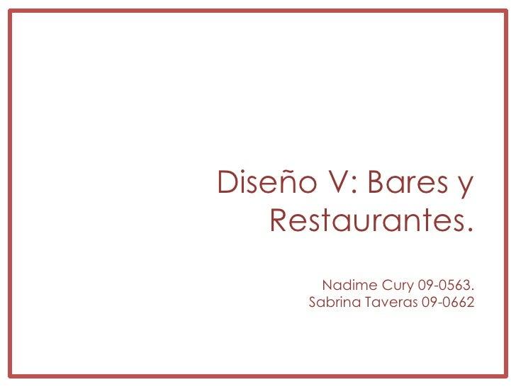 Restaurantes menu basico for Programa arquitectonico restaurante