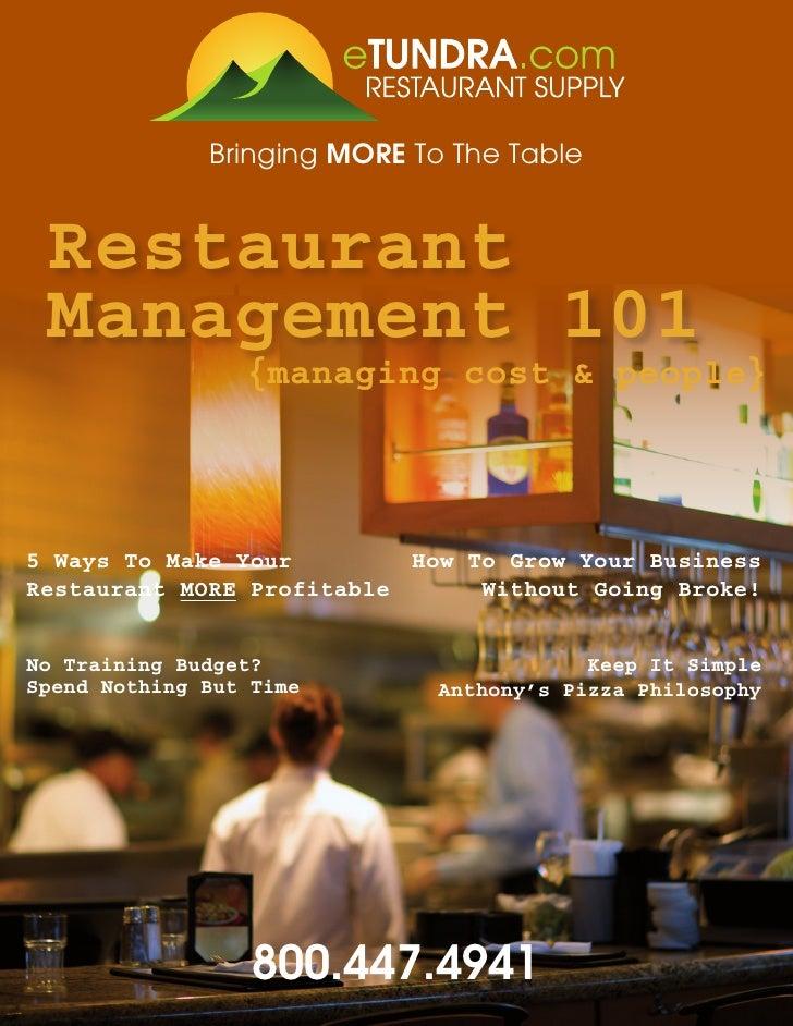 Restaurant Management 101