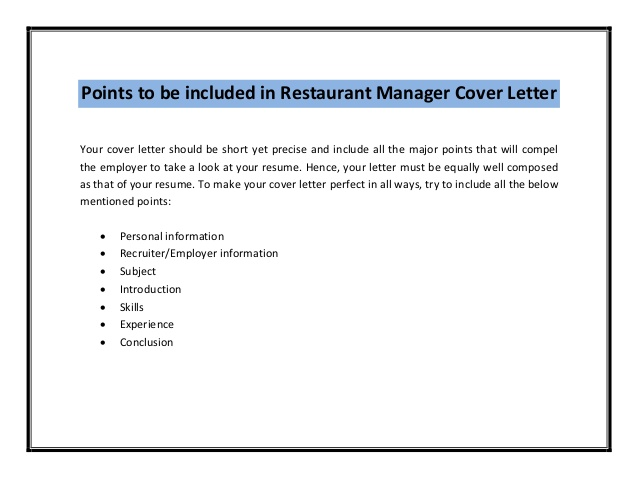Food Service Cover Letter Samples Resume ...